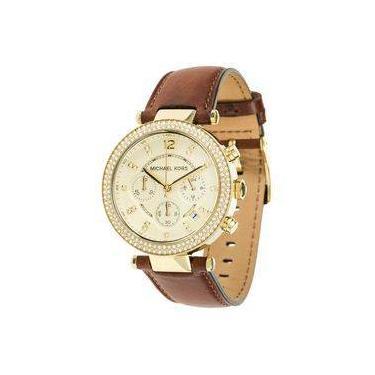 97593930648 Relógio Feminino Michael Kors Modelo MK2249 - Pulseira em Couro   A prova  d  água