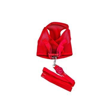 Colete Peitoral - Aerado Com Velcro Vermelho Gg