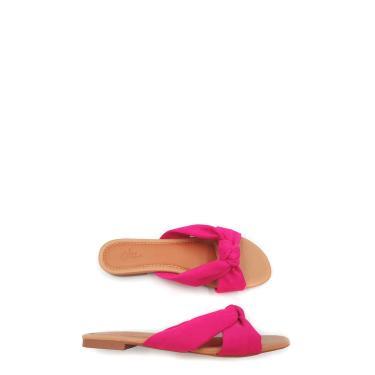 Rasteira Camurça Detalhe Nó Tamanho Especial Le scarpe di Bruna - Pink  feminino