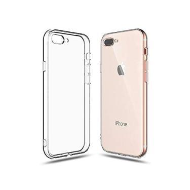 Capa Transparente Air Anti Impacto iPhone 7 Plus e 8 Plus 5.5 Antichoque TPU Silicone