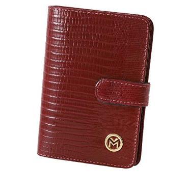 Carteira Feminina Couro Legítimo Porta Documentos 237 (Vermelho)