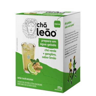 Imagem de Chá Leão Água Gelada - Chá Verde Gengibre E Limão 10 Sachês