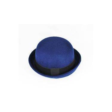 Chápeu Bowler Coco Chaplin Azul-Marinho