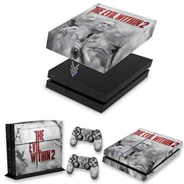 Capa Anti Poeira e Skin para PS4 Fat - The Evil Within 2