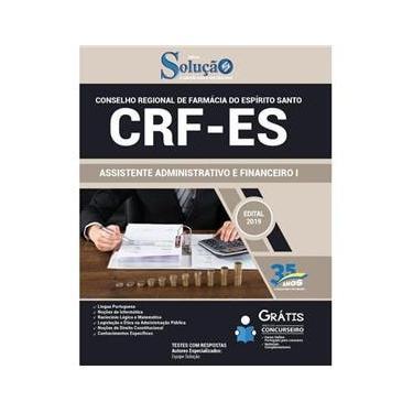 Imagem de Apostila Crf-Es - 2019 - Assistente Adm E Financeiro I
