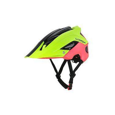 Capacete Ciclismo MTB Road Bike Mold Lixada Yellow/Red 56 a 62cm