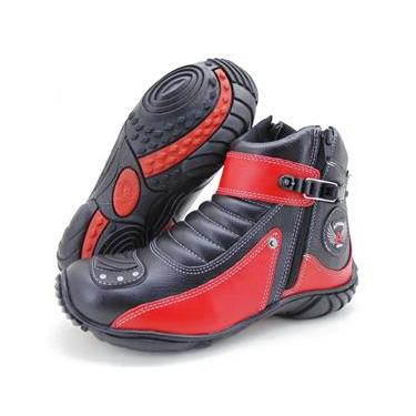Bota Atron Shoes 271 Preta/Vermelha