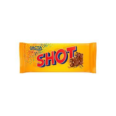 Barra de Chocolate Shot Ao Leite Lacta 90g - 1 Unidade