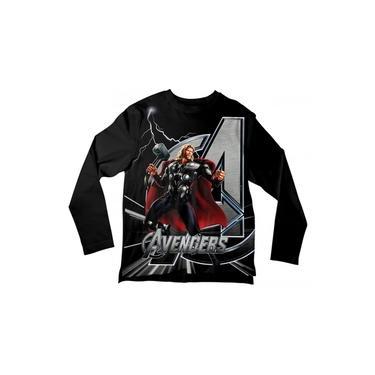 Camiseta Infantil Thor Preta ML