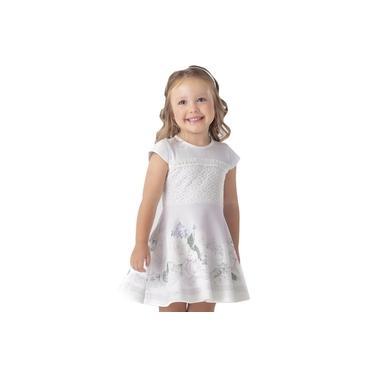 Vestido Infantil Estampado Florido Lilás Petit Cherie Lilás 6
