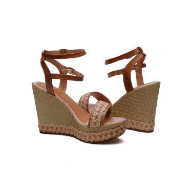 Imagem de Sandália  Anabela Plataforma SB Shoes ref.3280 Caramelo  feminino