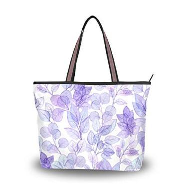 Bolsa de ombro feminina My Daily com folhas de violeta, Multi, Large