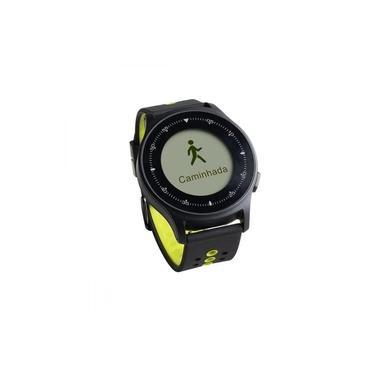 Monitor Cardíaco Sportwatch Chronus + GPS à Prova D Água Preto Atrio - ES252