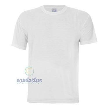 Camiseta Para Sublimação Branca P 100% Poliéster – 1 unidade