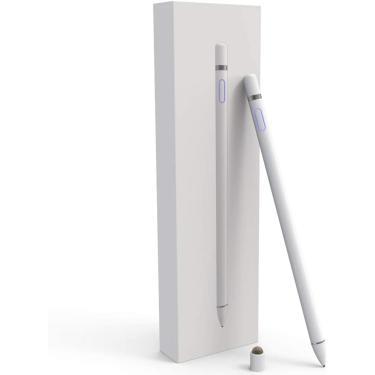 Imagem de Canetas stylus para telas sensíveis ao toque, ponto fino ativo smart lápis digital compatível com iPad e a maioria dos tablets
