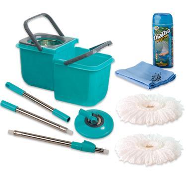 Mop Limpeza Prática Mor Com 2 Refil Esfregão e Toalha Mágica