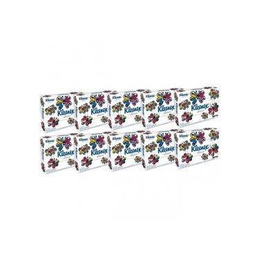 Kit 10x50 Lenços de Papel Kleenex Classic Misto Sem Perfume