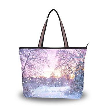 ColourLife Bolsa de ombro de fora com alça superior em tecido de poliéster sacola grande, Colorido., Large