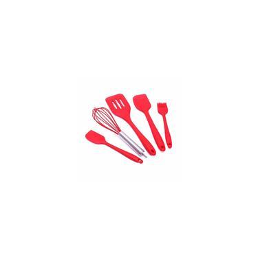 Venda quente 5 pcs Conjunto de Cozimento de Silicone Utensílio de Cozinha de Silicone Conjunto com Espátulas Utensílios de Cozinha Conjunto de Louça