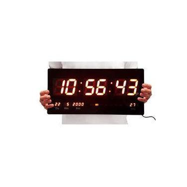 7ffbd2f0a83 Relógio de Parede Led Digital Termômetro e Calendário - 4600