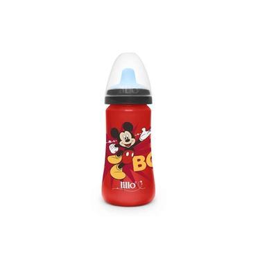 Copo Colors Bico De Silicone Disney Mickey Vermelho - Lillo