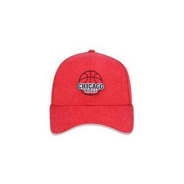 Bone 940 Chicago Bulls Nba Aba Curva Snapback Vermelho New Era 842b6194b5f