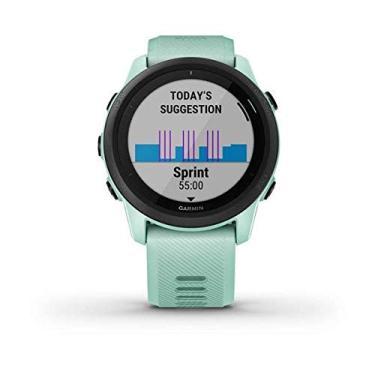 Monitor Cardíaco de Pulso com GPS Garmin Forerunner 745 Verde água