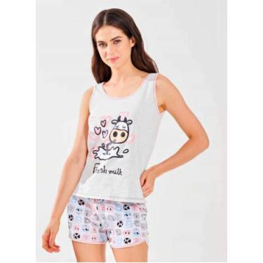 Conjunto Pijama Infantil Regata C/Short Vaquinha (02)