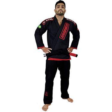 Kimono Jiu Jitsu Keiko Ouro - Preto-A0