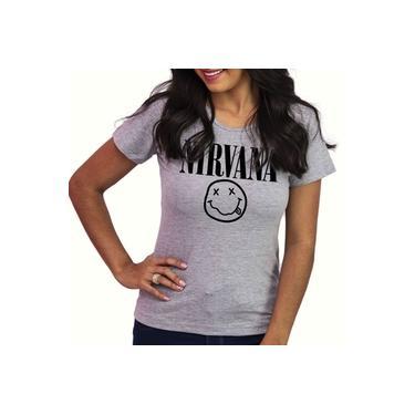 Babylook Blusa Baby Look Feminina Banda Nirvana 100% Algodão