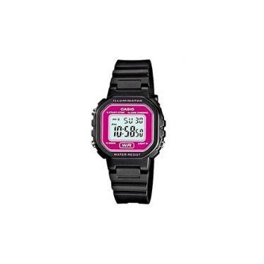 63c39c734fb Relógio Feminino Esportivo Digital - Casio - LA-20WH-4ADF