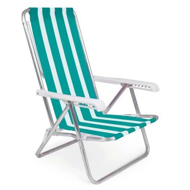 Cadeira Reclinável Alumínio 8 Posições 2233 - Alumínio