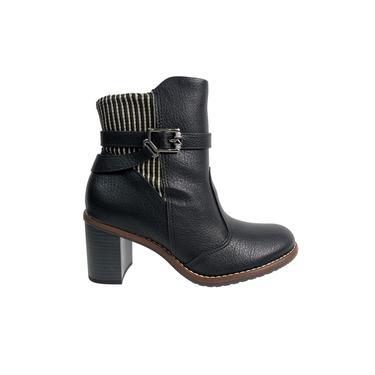 Bota Piccadilly Ankle Boot Maxitherapy Preto Feminino