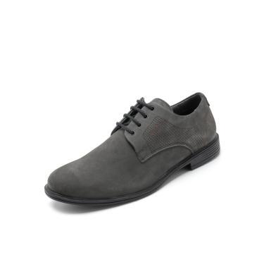 497fda300f Sapato Social Couro Ferracini Perfuros Cinza Ferracini 4554-480Z masculino