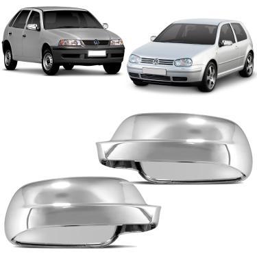 Capa de Retrovisor Cromada Gol G3 G4 2000 a 2013 Golf 2000 a 2006 Acabamento Impecável Plástico ABS Lado Direito Passageiro