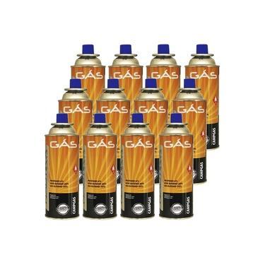 Kit Refil de Gas Campgas para Fogareiros e Macaricos Nautika 12 Unidades