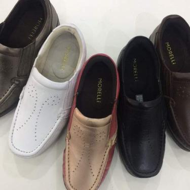 Sapatos Femininos Conforto Ortopédico Em Couro Sucesso 1102 Tamanho:34;Cor:Marrom
