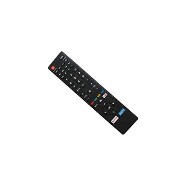Controle remoto de substituição HCDZ com teclas Vudu YouTube Netflix para Smart TV HDTV LED Magnavox 55MV314X 55MV314X/F7 55MV314XF7 NH410UP NH424UP