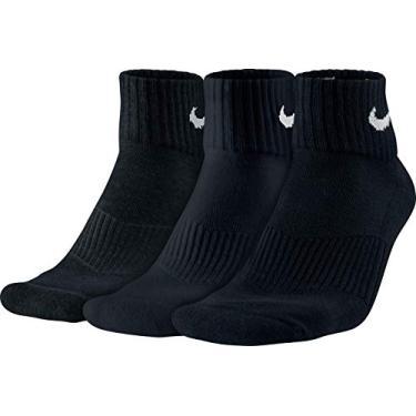 Meia Nike SX4703 Cano Médio Kit com 3 unidades Preto 34-38