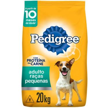 Ração Seca Pedigree para Cães Adultos Raças Pequenas - 20 Kg