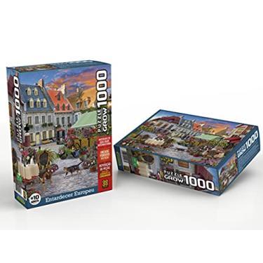 Imagem de Quebra-cabeças Grow 1000 peças: Entardecer Europeu (exclusivo Amazon), Multicor