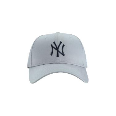 Boné Aba Curva New Era 9Forty New York Yankees - Snapback - Adulto - CINZA  New Era 4e091b4aded