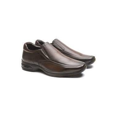 Sapato Masculino em Couro Legítimo Jota Pe 3D Air Marrom