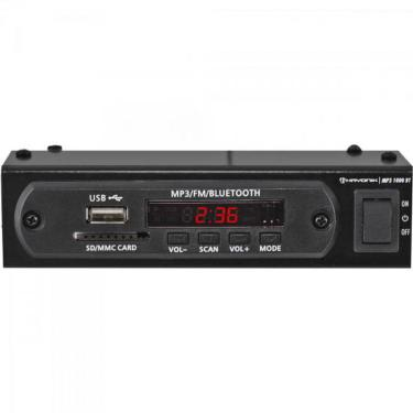Módulo Pré Amplificador C/ FM/USB/MP3/Bluetooth MP3 1000BT Preto HAYONIK