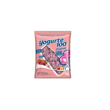 Pirulito Morango com Recheio de Bala Mastigável Yogurte Original Dori 525g