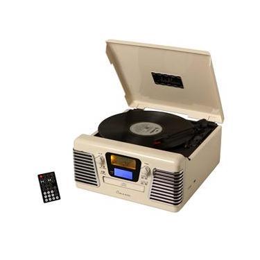 Rádio Retrô Ribeiro e Pavani AutoRama 35312 com Toca-discos, CD Player, Rádio AM/FM, Entrada USB, Slot para Cartão e Saída para Subwoofer – 10 W