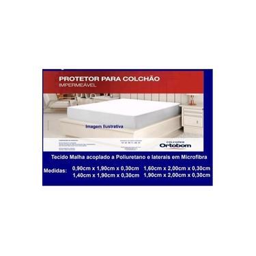 Imagem de Capa Protetor De Colchão Impermeável Casal 1 Peça ortobom