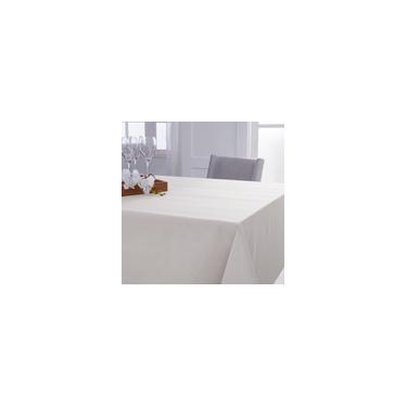 Imagem de Toalha de Mesa Retangular Naturalle Limpeza Prática Mesa Lisa Off-White 8 lugares 1,60m x 2,50m