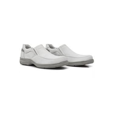 Sapato Masculino em Couro Soft Branco New Absolut Sollu - ref. 13802