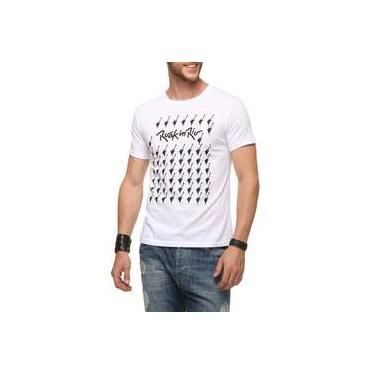 Camiseta Rock in Rio Mini Guitarras Branca Dimona Masculina 15114c48e9fb0